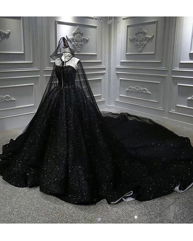 Image of phylliscouture black wedding dress