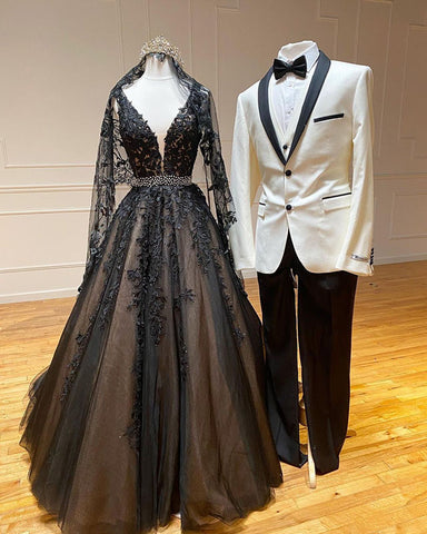 phylliscouture black wedding dress