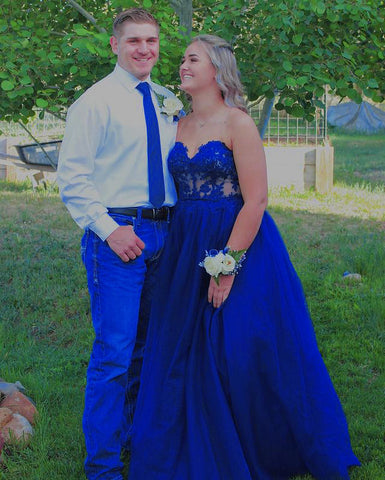 Image of phylliscouture royal blue prom dress 2021