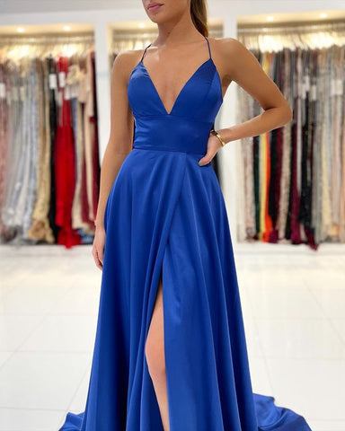 Image of phylliscouture royal blue prom dress
