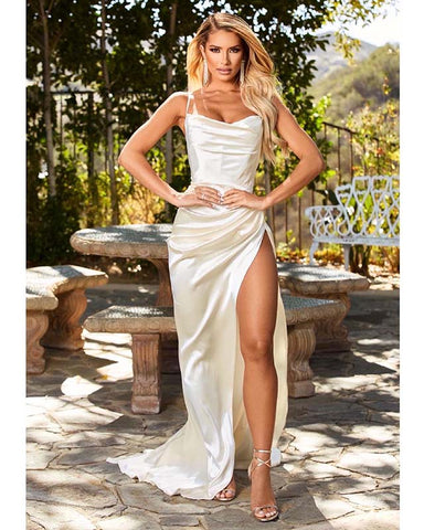 Image of phylliscouture white prom dress 2021