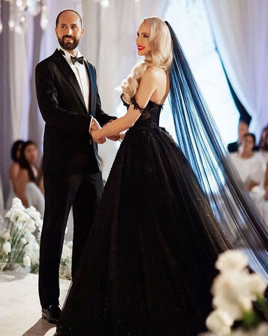 Image of phylliscouture black wedding dress 2021