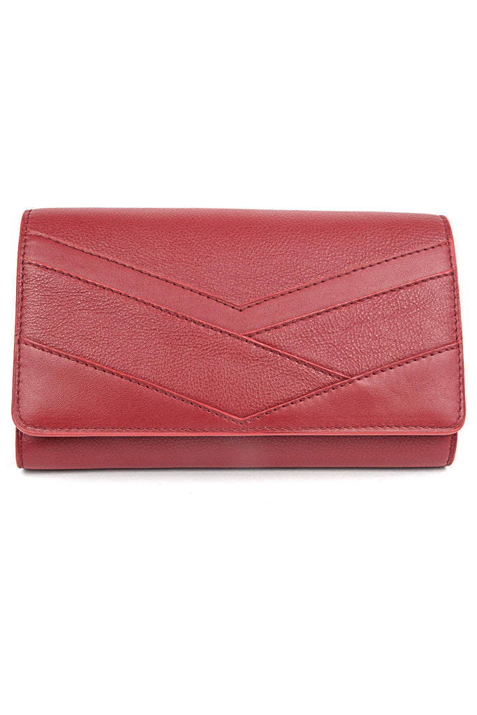 pochette soiree cuir rouge