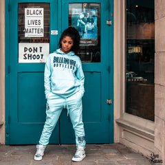 Pamm Carolina photographed in BBC Stardust Joggers and Hoodie
