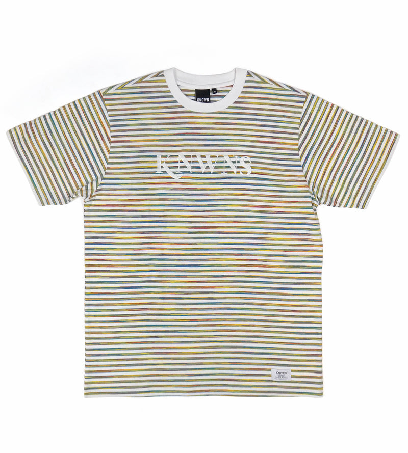 Knwns Classic Stripe Tee - White