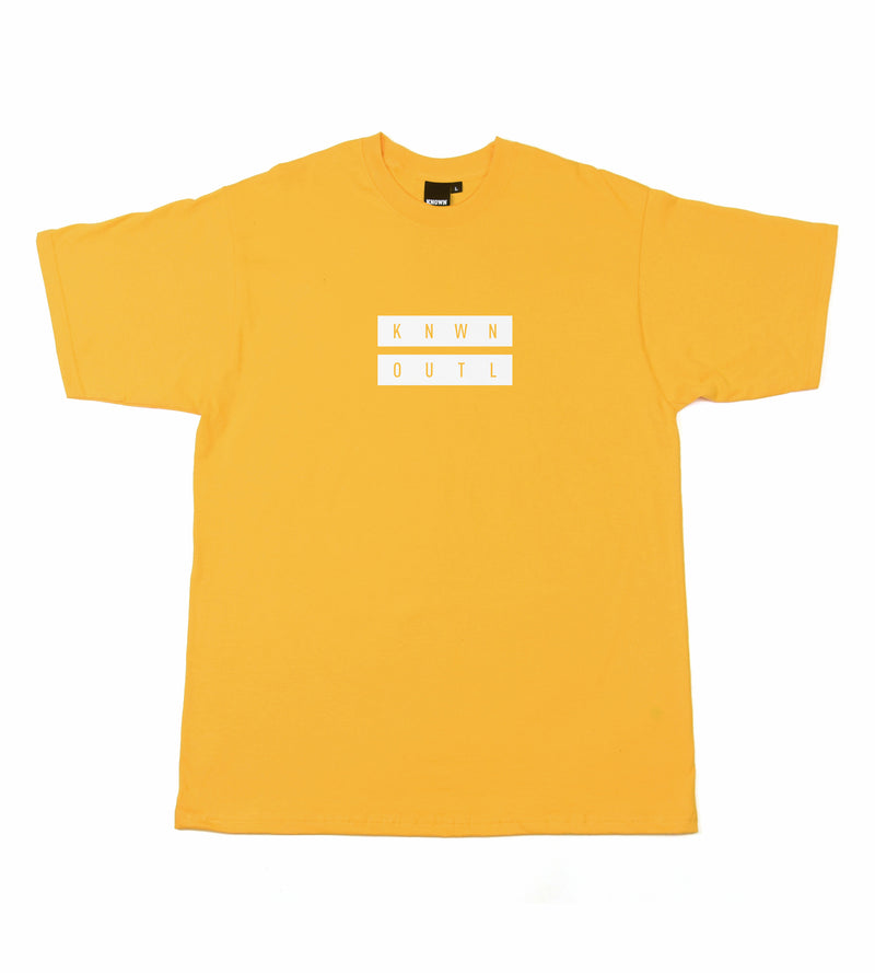 Equals Box Fit Tee - Yellow