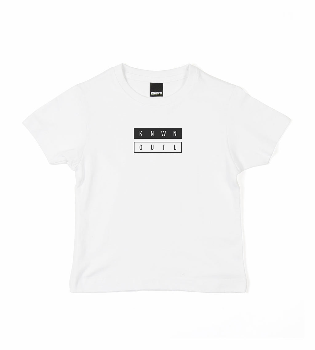 Kids Split Equals Tee - White