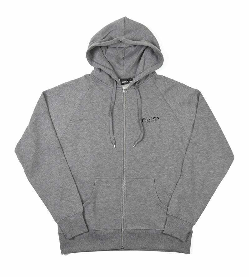 Waves Zip Hood - Grey