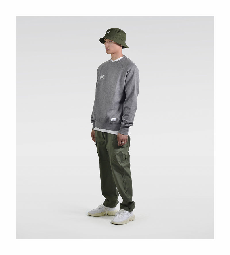Yen Badge Sweat - Grey