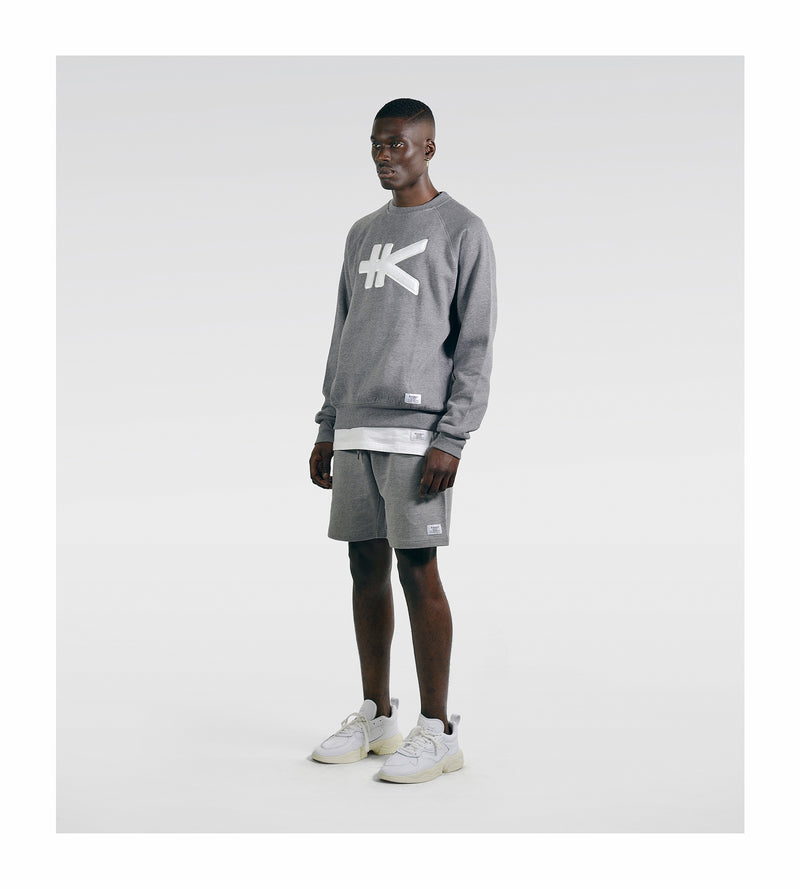 Yen Appliqué Sweat - Grey