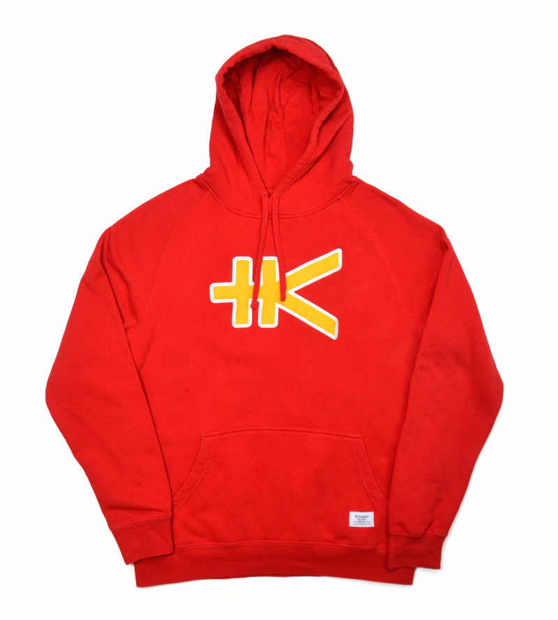 Yen Appliqué Hood - Red