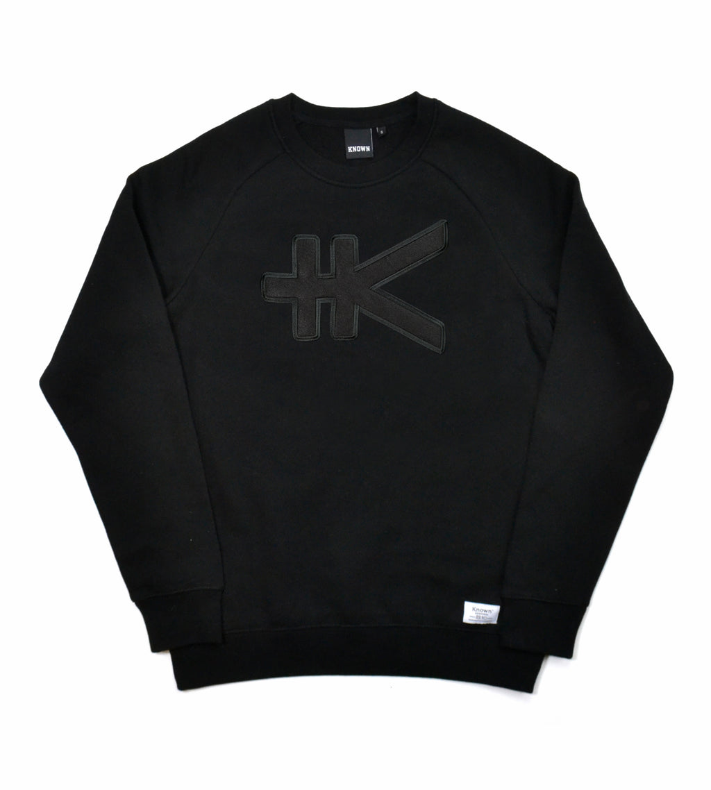 Yen Appliqué Sweat - Tonal Black
