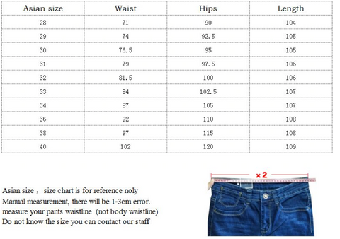Long Casual Stretch Slim Fit Jeans for Men