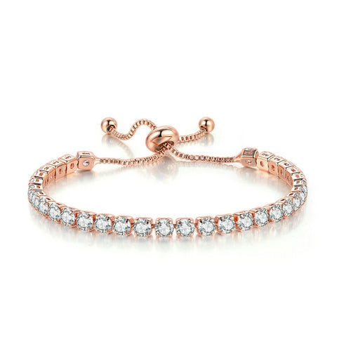 Cubic Zirconia Mosaic Adjustable Women's Bracelet