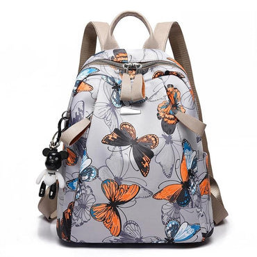 Anti-Theft Waterproof Butterfly Print Women Backpack