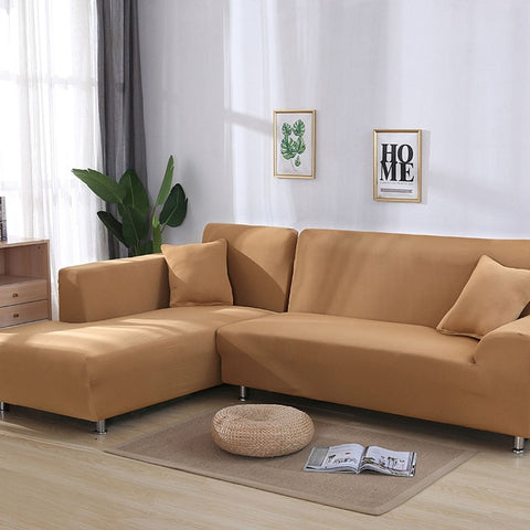 Europe Style L-Shape Stretch Elastic Double-seat Sofa Cover For Living Room