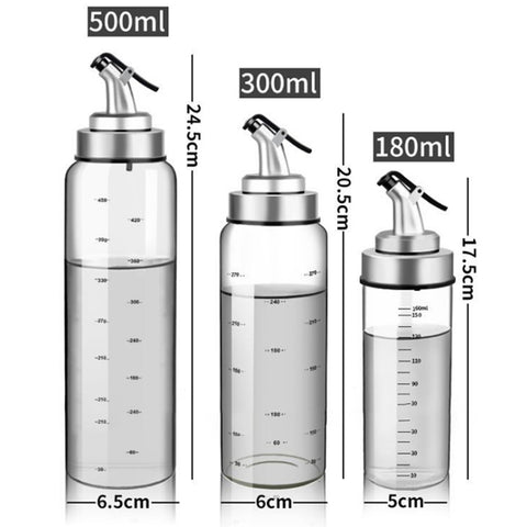 Silver Bottle Dispenser For Oil and Vinegar Creative Kitchen Accessories