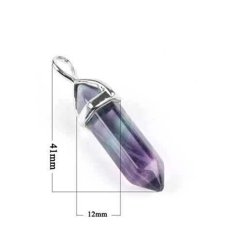 Natural Gem Stone Hip Hop Style Women Crystal Pendants Necklaces