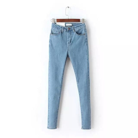 Retro Vintage Casual High Waist Women's Skinny Denim Jeans