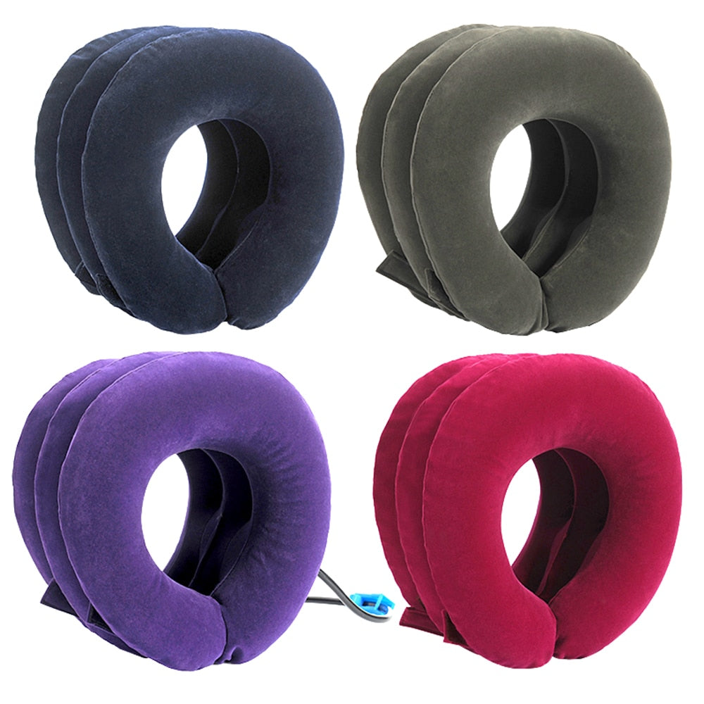 Inflatable Cervical Vertebra Traction Soft travel Neck Pain Pillow