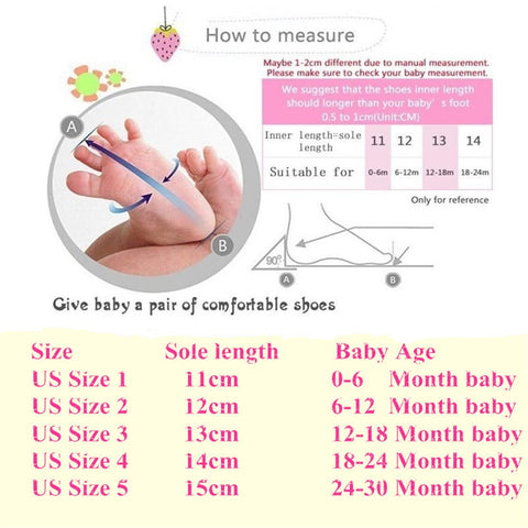 Classic Infant Toddler Soft Sole Anti-slip Baby Shoes