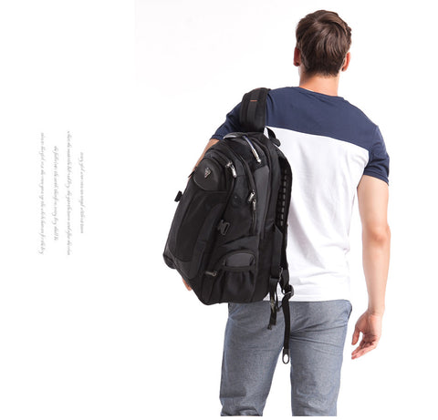 Multifunctional Water Resistant Black Computer Backpacks