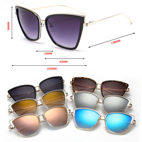 Alloy Cat Vintage Metal HD  Sunglasses