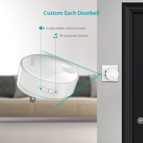 Waterproof Self-powered Wireless Remote Doorbell