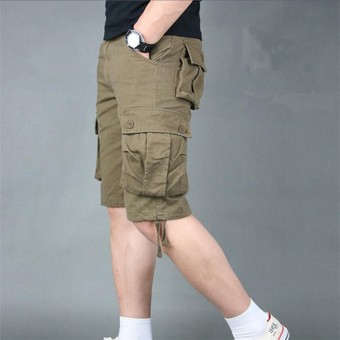 Casual Loose Overall Military Combat Baggy Shorts Trousers