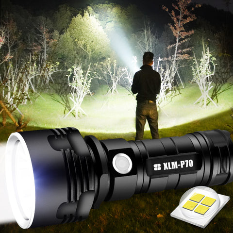 Ultra Powerful USB Rechargeable Internal Waterproof LED Flashlight Torch