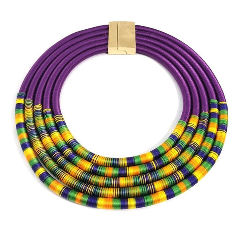 Multilayer Handmade Metal Bead Choker Necklaces For Women