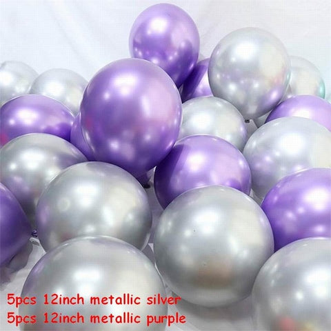 Multi-color Marble Metallic Latex Balloons For Decoration Party