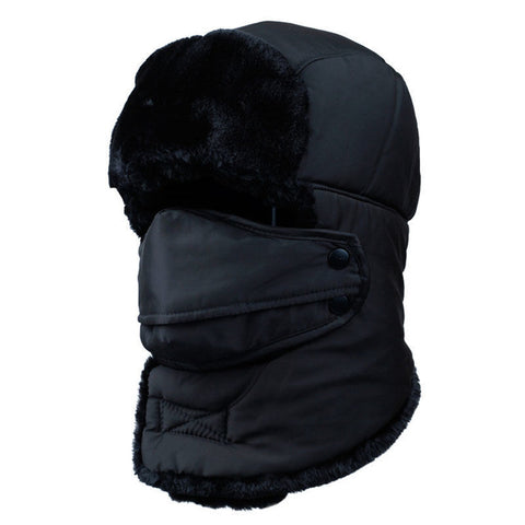 Winter Warm Faux Fur Earflap Unisex Russian Trapper Thermal Bomber Hats Caps