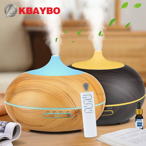 USB Electric Wood Essential Oil Aromatherapy 550ml Ultrasonic Humidifier For Home