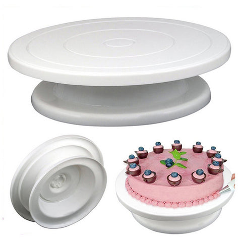 Turntable Baking Silicone Rotating Round Mould Cake Plate Tools