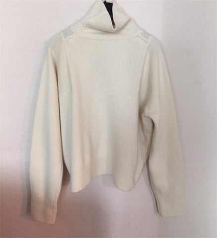 Winter Long Sleeve Turtleneck Office Lady Loose Pullover Sweaters