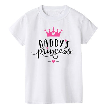 Casual Letter Print Short Sleeve O-Neck Baby Girls Cute T-shirts
