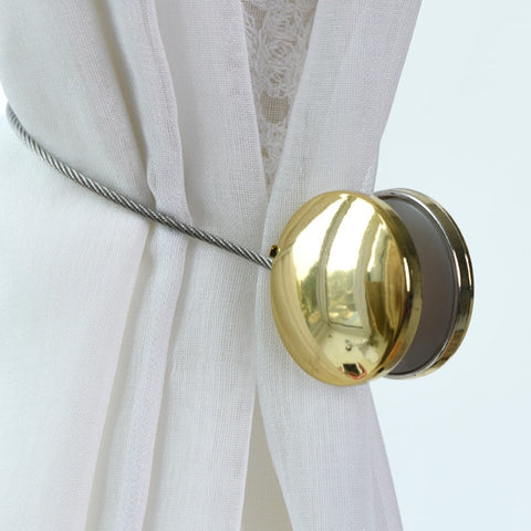 New Pearl Curtain Simple Magnetic Ball Tie Rope Decorative Pendant Accessory
