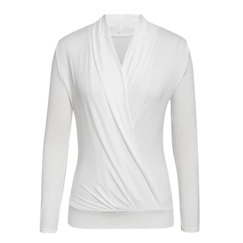 Winter Party Club Long Sleeve V Neck Top for Women