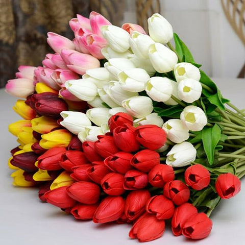 Pretty Tulip Flores Artificial Fake Flower For Home Decorations