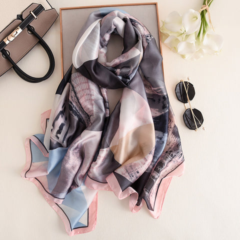 Summer Colorful Silk Soft Pashmina Women Wrap Scarves Scarf