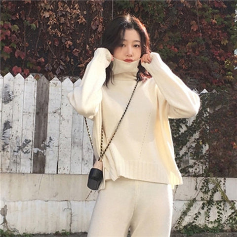 Knitted Winter Two Piece Tracksuit for Women