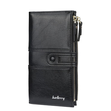 Engave Fashion Long Leather Card Holder Walled for Women