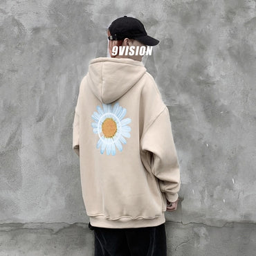 Winter Harajuku Thicken Warm Oversize  Pullovers Hoodies for Men