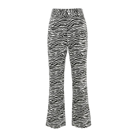 Zebra Animal Print Elegant Pants Capri's for Women