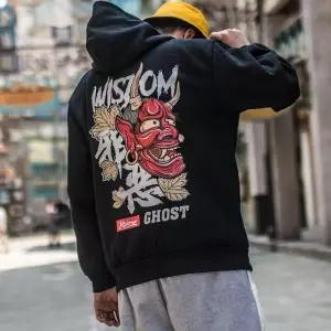 Hip Hop Japanese Loose Pullover Harajuku Casual Hoodies for Men