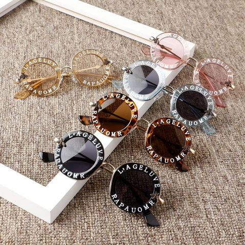 Fashion Letter Solid Hot Sun Glasses for Kids