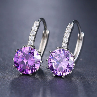 Fashion CZ Element Stud Earrings For Women