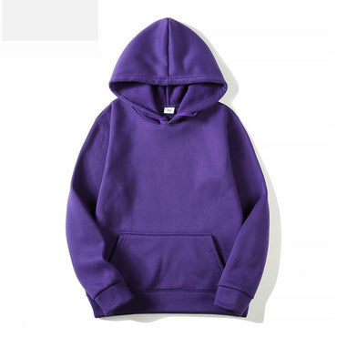 Winter Fashion Casual Solid Color Hoodies for Man