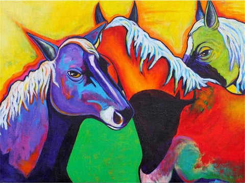 Animal Picture Oil Painting By Number Set for Home Decor